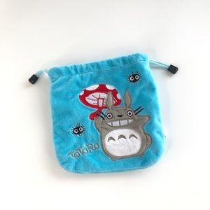 Totoro Blue Drawstring Bag